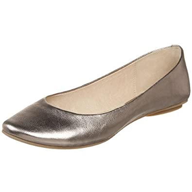 Kenneth Cole REACTION Women's Slip On By Ballet Flat,Pewter,5 M US