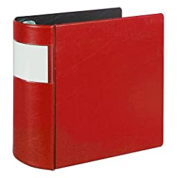 Samsill 17603 Top Performance DXL Angle-D Binder with Label Holder, 5-Inch, Locking Rings, Red