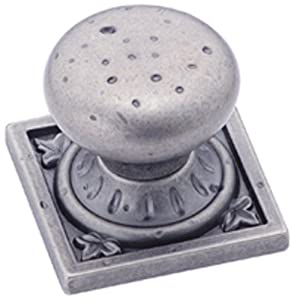 Amerock BP4484-WN Ambrosia Euro Stone SQ 1-1/4-Inch Knob, Weathered Nickel