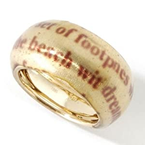 18k gold quot footprints in the sand quot ring jewelry