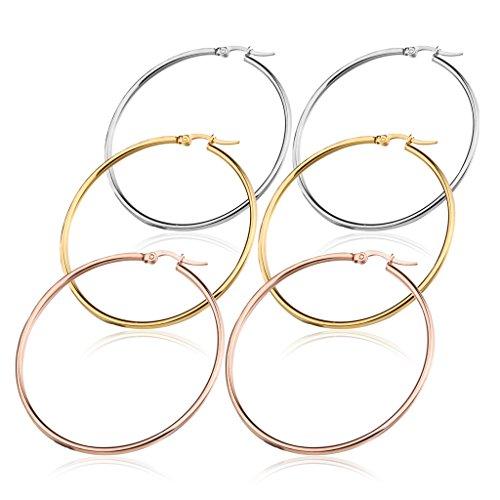 fibo-steel-stainless-steel-hoop-earrings-set-for-women-3-pairs-a-set-60mm