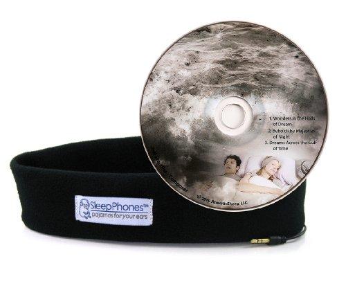 Acousticsheep Sleepphones Classic Sleep Headphones With Dreams Cd (Black)