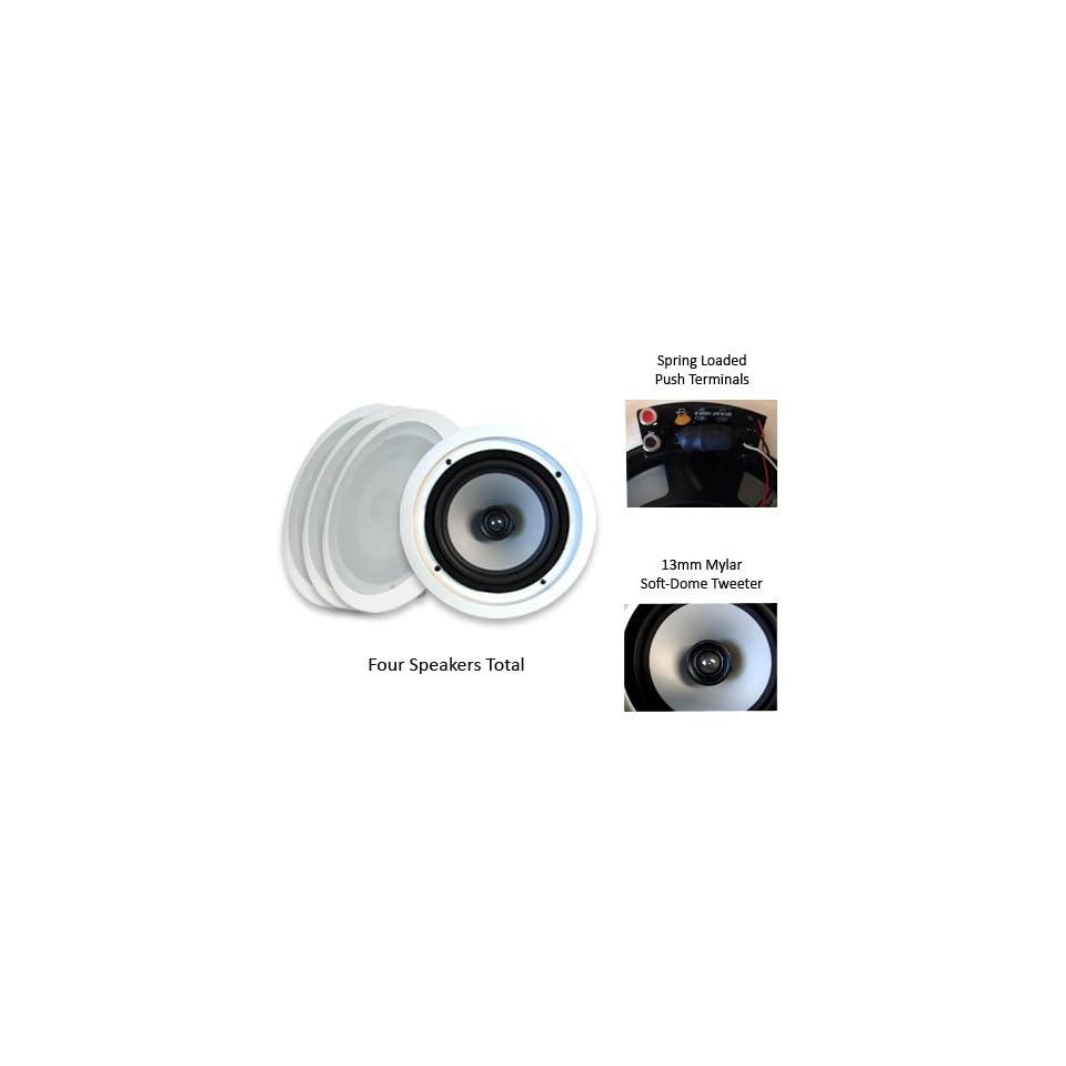 Acoustic Audio iC8 4PKG (4) 180 Watt 8 In Wall/Ceiling Home Speakers