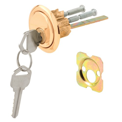 Images for Prime-Line Products U 9965 Rim Cylinder Lock, Kwikset/Weiser, Brass Face, Diecast Housing