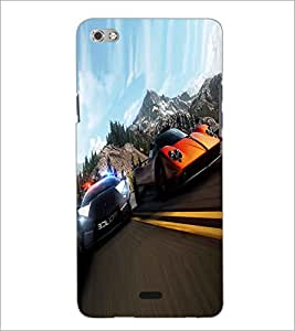 PRINTSWAG RACING CARS Designer Back Cover Case for MICROMAX CANVAS SLIVER 5 Q450
