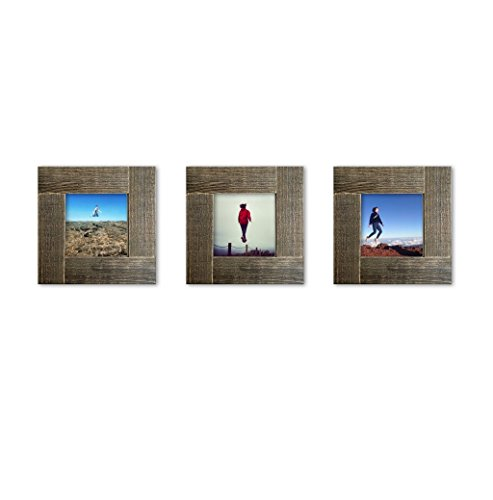 Distressed Wood Square Instagram Photo Frame 4x4 35x35 Import