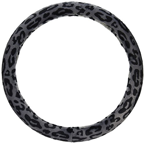 BDK Universal Fit Steering Wheel Cover – (Leopard Gray)
