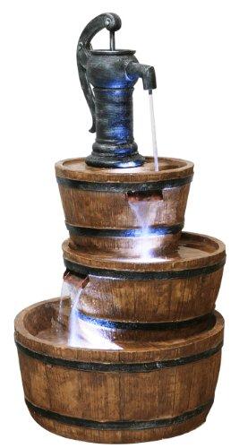 Fontaine à Trois Etages - Tonneau en Résine