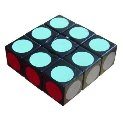 Black LanLan 3x3x1 Floppy Cube Puzzle - 1