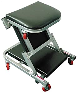 Mechanics Padded Folding Creeper Seat Specifications:Length: 40inch Wheels: 6 x 2.5inch Finished in a silver powder coat.Comes complete with 6 durable swivel wheels.