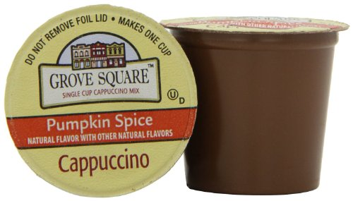 Grove Square Pumpkin Spice Cappuccino, 96-Count, Brown