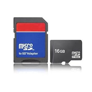 Daditong 16Go Micro SD Carte mémoire 16G TF carte pour l'appareil portable avec adaptateur SD