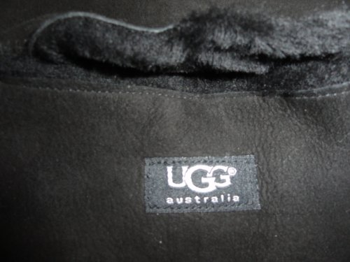 UGG UGG Australia Womens Shearling Sheepskin Winter Scarf Black