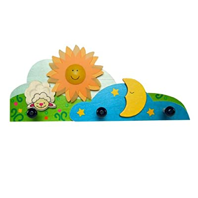 Childrens room clothes pegs Sun, moon & the little lamb