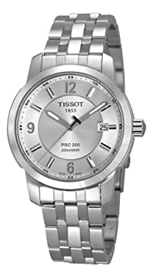 Tissot Men's T014.410.11.037.00 PRC 200 Silver Dial Stainless-Steel Bracelet Watch