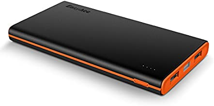 EasyAcc Colorato 10000mAh Batteria Esterna Portatile Caricabatterie per iPhone Samsung Smartphones Tablets - Nero e Arancione