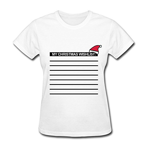 Ptcy Women'S Designed Tee Cool Christmas Xmas Gifts S White