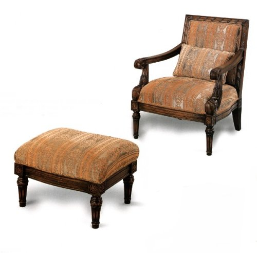 cheap accent chair in oak finish and fluted legs cheap