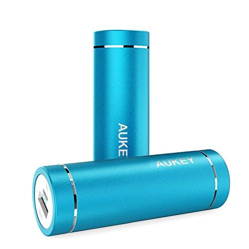 Aukey モバイルバッテリー 5000mAh AiPower 小型 スマホ充電器 急速充電対応 PB-N37(ブルー) [改善版]