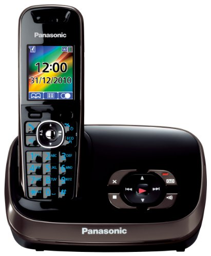 Panasonic KX-TG8521EB DECT Single Digital Cordless Phone Set with Answer Machine - Black