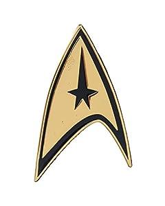 Star Trek New Licensed Command Gold Black Border Metal Badge Pin Bioworld