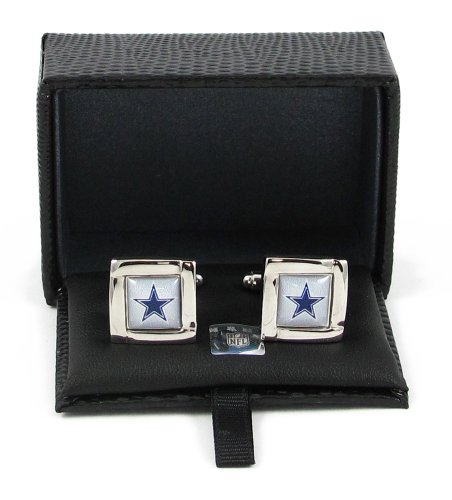 NFL Logo Square Cufflinks with Gift Box Set