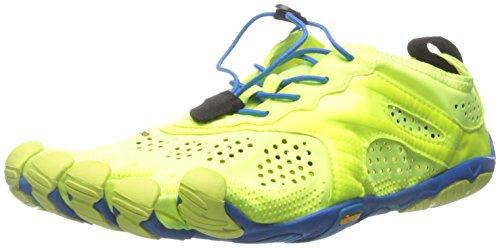 Vibram Five FingersV-RUN - Scarpe Running Uomo , Multicolore (Mehrfarbig (Yellow/blue/teal)), 43