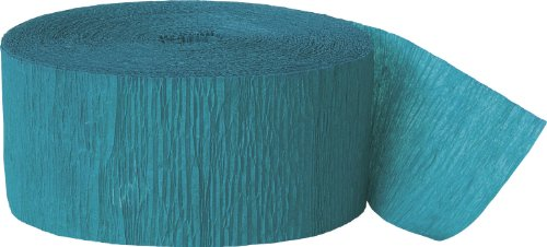 Crepe Paper Streamers, 81 Feet, Teal Green (Teal Paper Streamer compare prices)