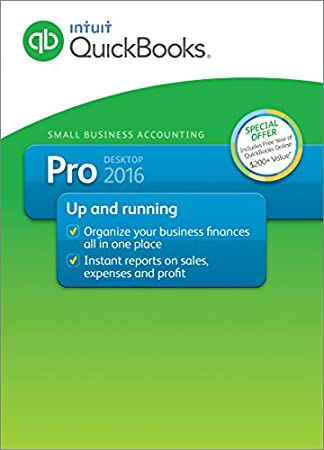 QuickBooks Pro 2016 Small Business Accounting Software with Free QuickBooks Online Essentials