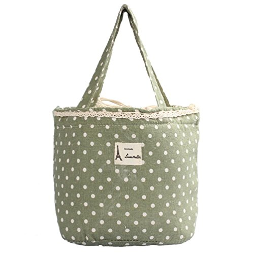 insulated-lunch-bag-for-women-saint-kaiko-lunch-box-bag-canvas-tote-strings-bag-picnic-bag-green