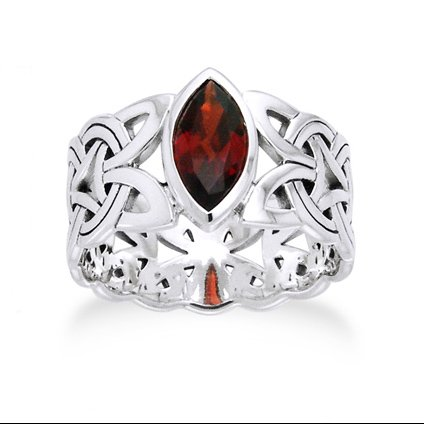 borre-knot-garnet-ellipse-viking-braided-wedding-band-norse-celtic-sterling-silver-ring-size-8sizes-