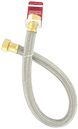 Lasco 10-1344 3/4-Inch Fip By 3/4-Inch Fip By 24-Inch Hot Water Heater Hose Connector