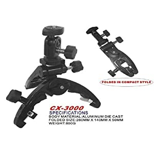 CowboyStudio Lightweight Universal Camera Camcorder Multi-clamp Pod Tripod, CX-3000