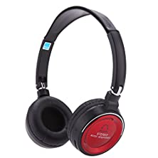 buy Sodial(R) Wireless 3 In 1 Multifunctional Stereo Bluetooth Headphone Earphone Headset With Mic Mp3 Player Fm Radio For Smart Phones Tablet Pc Notebook Red+Black