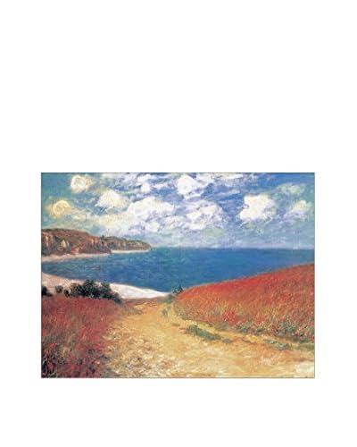 ArtopWeb Panel Decorativo Monet Meadow Road To Pourville 60x80 cm Multicolor