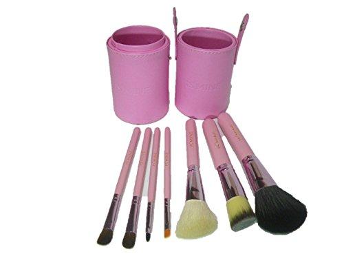 プロ仕様 化粧 メイク アップ ブラシ 7点セット ケース付 (3 ピンク)