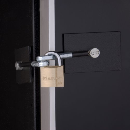 Black Refrigerator Door Lock with Padlock (Refrigerator Lock Black compare prices)