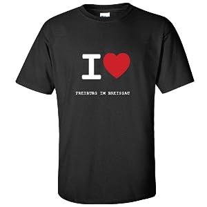 I love FREIBURG IM BREISGAU T-Shirt Unisex Tee - Farbe: schwarz