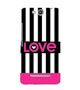 Love Black Lines 3D Hard Polycarbonate Designer Back Case Cover for Micromax Canvas Juice 3+ Q394 :: Micromax Canvas Juice 3Plus Q394