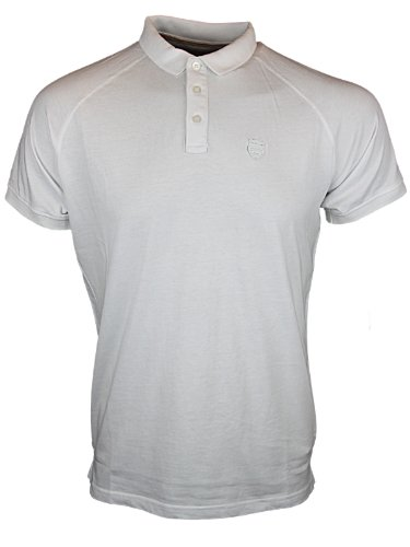 New Mens White Police 883 Jeans Loxo Branded Polo Neck T-Shirt Top Size S