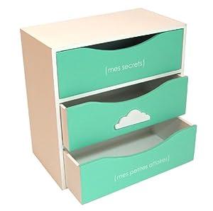 boite de rangement 3 tiroirs pour jeunes filles cuisine maison. Black Bedroom Furniture Sets. Home Design Ideas