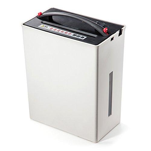 サンワダイレクト 電動シュレッダー ゴミ圧縮機能付 家庭用 クロスカット 10枚細断 400-PSD024