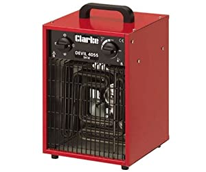Devil 5kW Industrial 3Phase Space Heater - Robust Steel Cabinet & Adjustable Thermostat