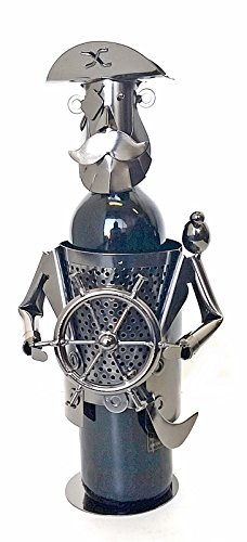 Bellaa Hand Made Designer Wine Holder Pirate Captain At the Helm Gifts Collection