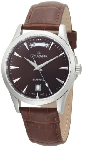 Grovana Men's 1201.1536 Traditional Quartz Chocolate Dial Watch