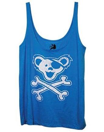 Grateful Dead Original Logo Ladies Blue Tank Top (X-Large-Juniors)