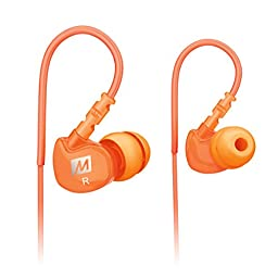 MEE audio Sport-Fi M6 Noise Isolating In-Ear Headphones with Memory Wire (Orange)