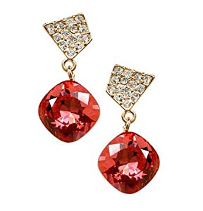 Cocktail Earings with Swarovski crystal 18ct rose Gold plated gift for women and girls