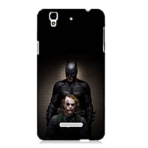 Clapcart Joker and Batman Design Printed Mobile Back Cover For Micromax YU Yureka / Yu Yureka Plus -Multicolors