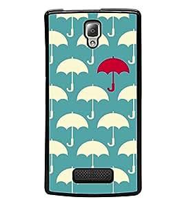 Umbrella Pattern 2D Hard Polycarbonate Designer Back Case Cover for Lenovo A2010